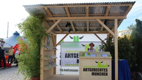 Aktionsstand Artgerechtes München - Sommerfestival 2015