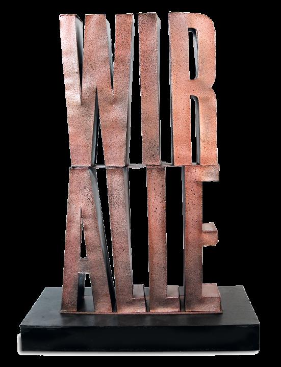 Wir, alle Skulptur
