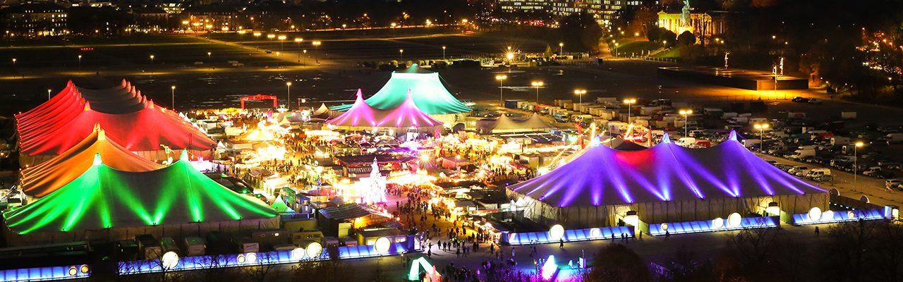 Tollwood Winterfestival 2017 Festivalansicht