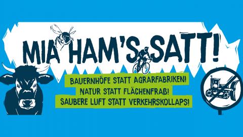 Mia ham's satt! Demo am 6.10. in München