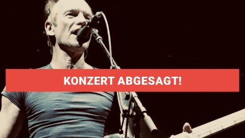 Sting Konzert abgesagt