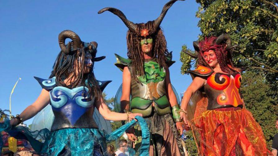 Performances Stelzen Tollwood Sommerfestival 2019