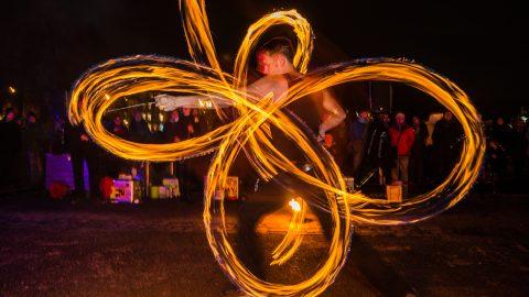 Faszination Feuershow Tollwood Winterfestival 2019