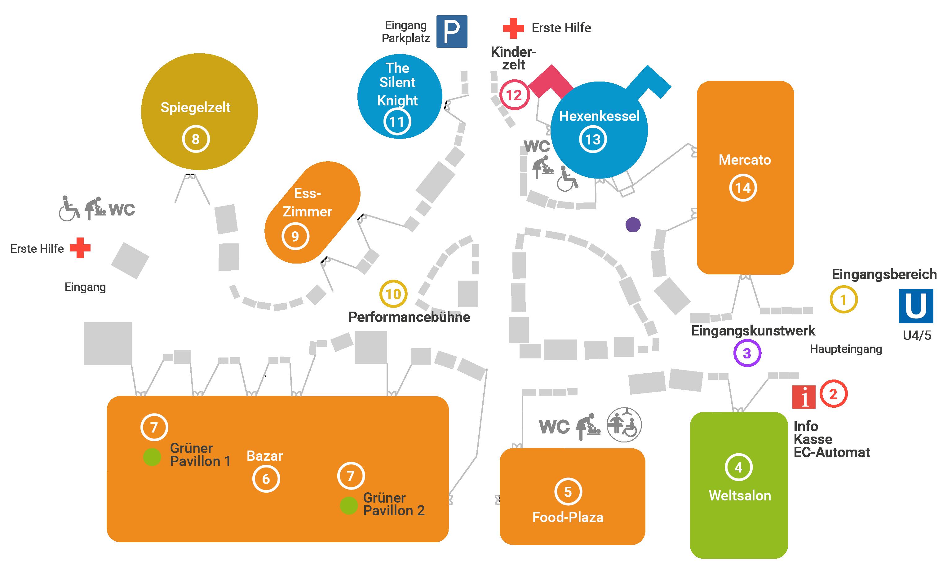 Plan des Winterfestivals