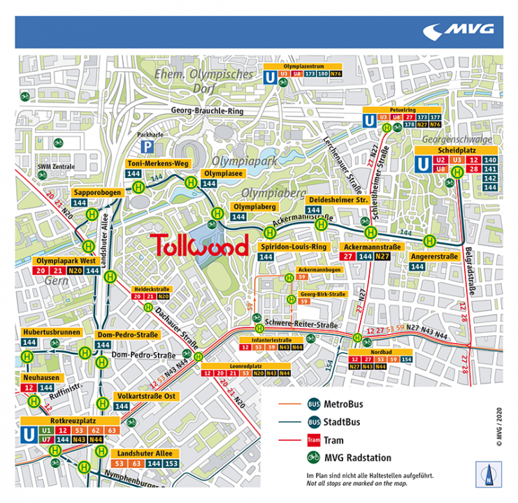 Anfahrtsplan Tollwood Sommerfestival 2020