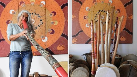 Jaya Peters Didgeridoo Spiel