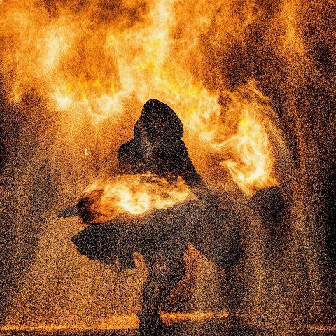 Feuershow Die Flugträumer ALICE Air On Fire